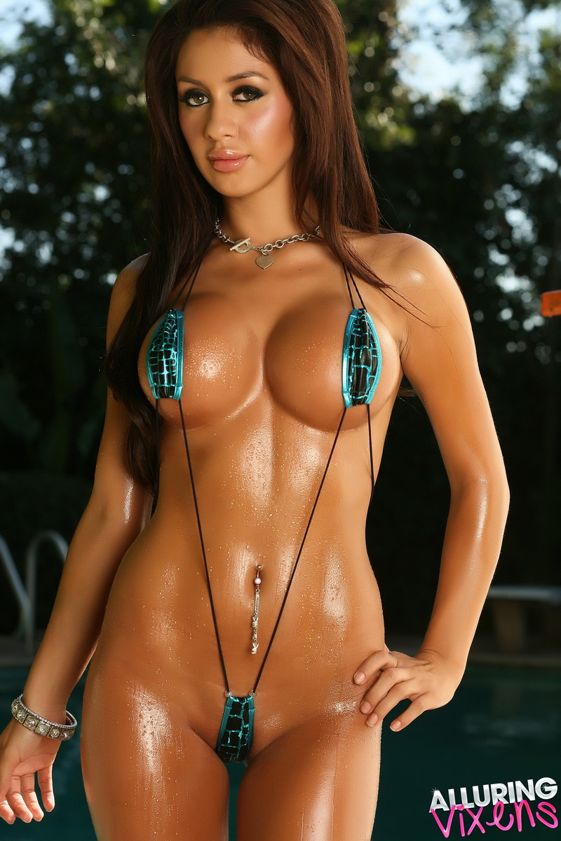 Bikini brunette gorgeous model this