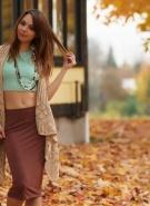 Ariel Rebel Pics Playing in Leaves #1