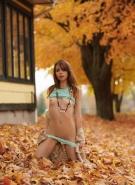Ariel Rebel Pics Playing in Leaves #12