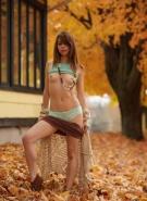 Ariel Rebel Pics Playing in Leaves #6