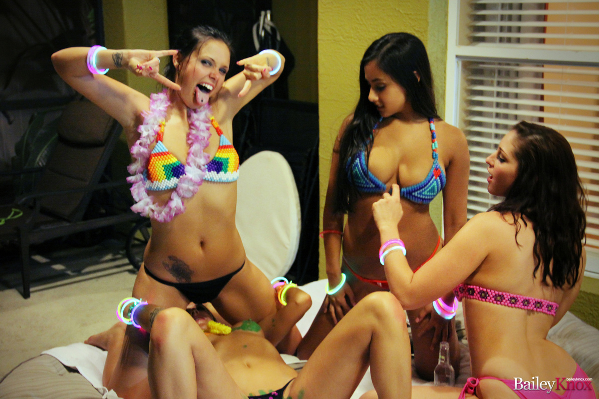 Bailey Knox Pics Hot Tub Panda Party @ GirlsForDays.com