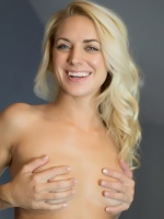 Basil Meadows is a sexy blonde babe with a rocking body. She has perky tits and a tight little body. See her tease and play with her pussy in pictures and videos on her exclusive