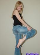 Callista Model Pics Denim Strip #1