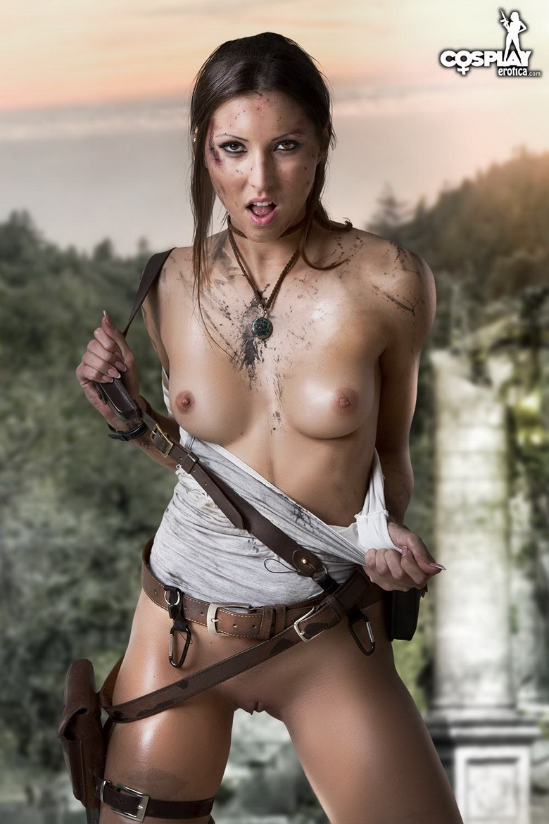 Sexy tomb raider cosplay nude exposed scenes