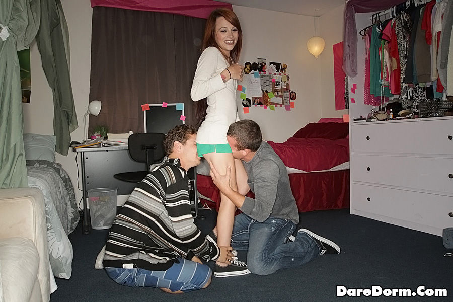 dare dorm threesome