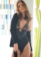 Lily Chey Pics Navy Lingerie #14