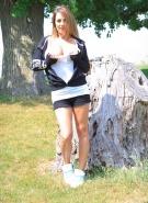 Nikki Sims Topless Road Trip #11