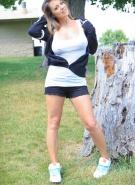 Nikki Sims Topless Road Trip #12