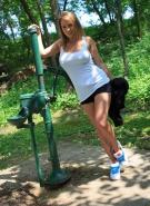 Nikki Sims Topless Road Trip #8