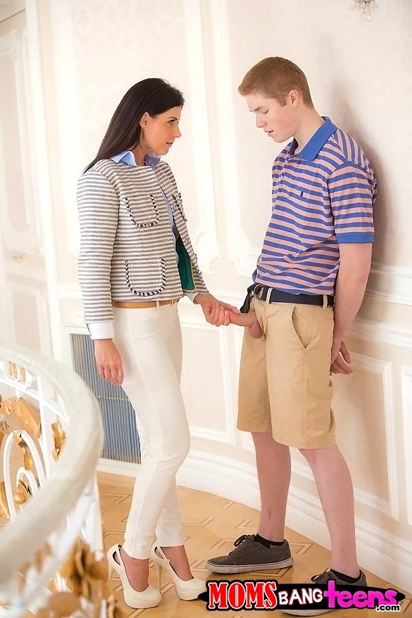 image Mature teacher seduces young student