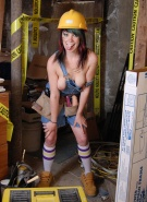 Sabrina Squirts Doing Naked Construction #2