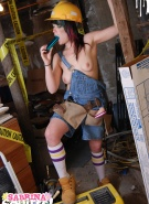 Sabrina Squirts Doing Naked Construction #4