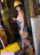 Sabrina Squirts Doing Naked Construction #7