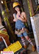 Sabrina Squirts Doing Naked Construction #8