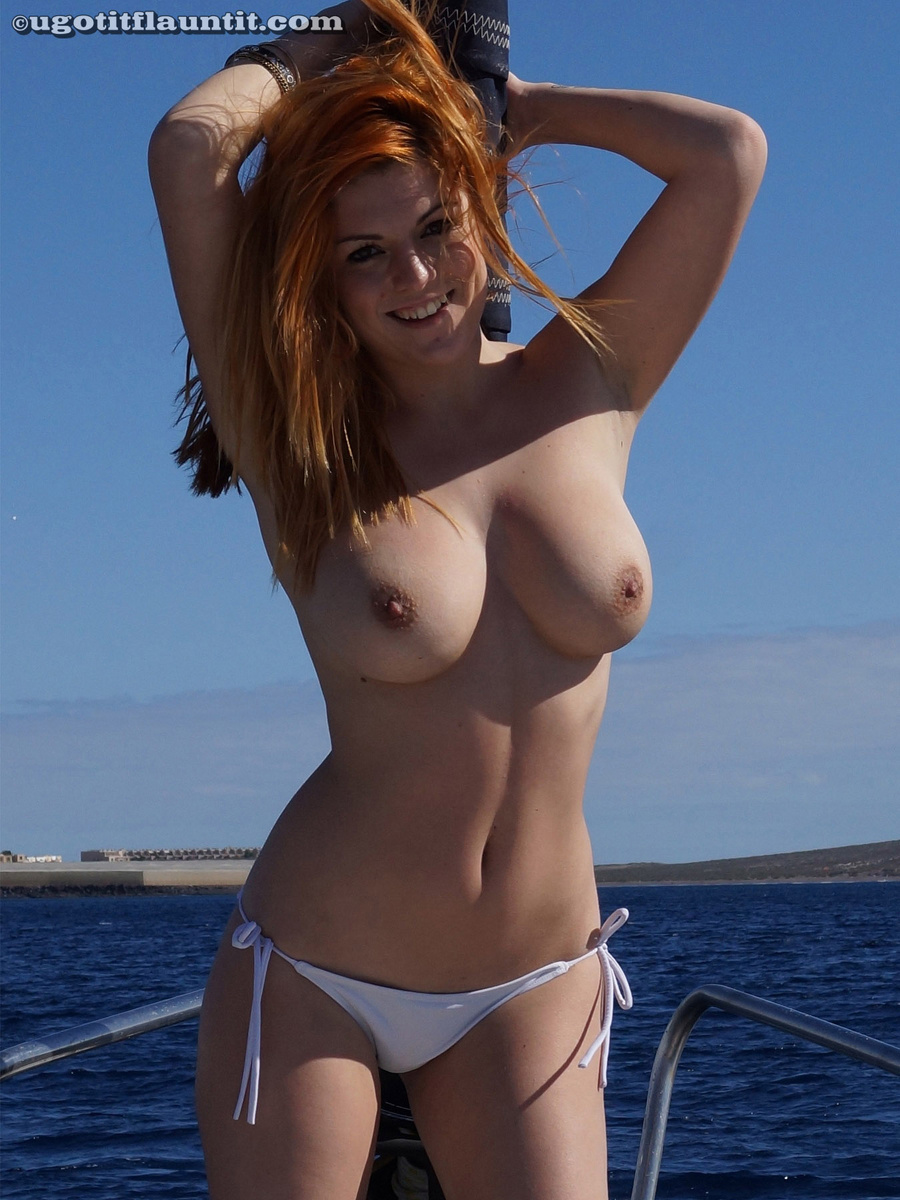 Teen girls naked on a boat thank