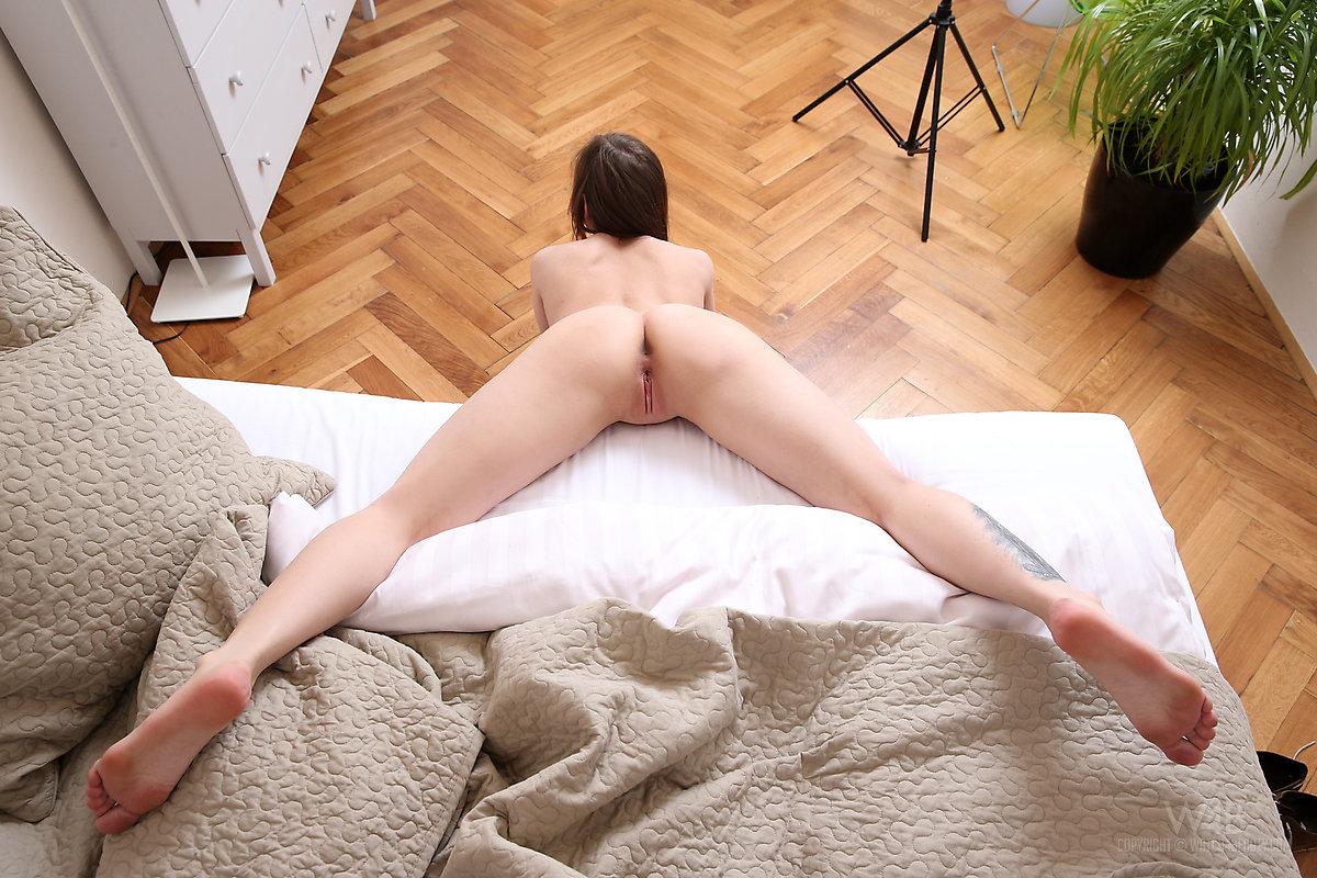 woman nude on the floor nude butt