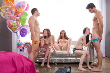 Asian lesbian squirting orgy