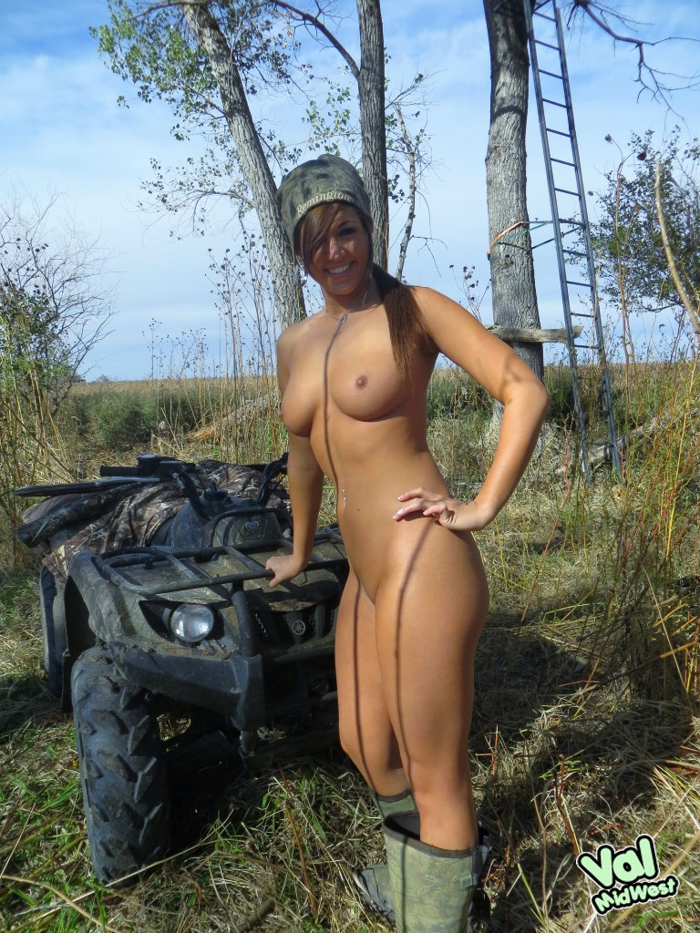 sexy blonde naked camo